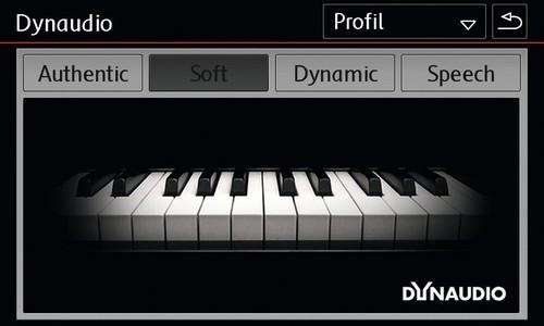Dynaudio: Einstellungen für den Sound.