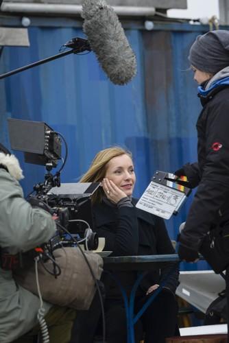 """Dreharbeiten zum TV-Spot der Opel-Kampagne """"Umparken im Kopf"""" mit Nadja Uhl."""