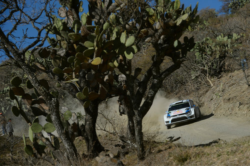 Rallye Mexiko 2014: Sébastien Ogier im VW Polo R WRC.