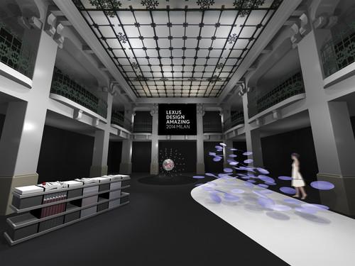 Lexus Design Ausstellung auf der Mailänder Designwoche 2014.