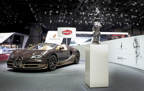 Bugatti Vitesse Rembrandt Bugatti in Genf.