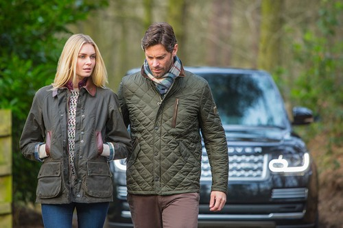 "Kollektion ""Barbour for Land Rover""."