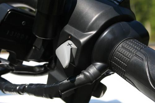 Honda CTX 700 N: Manueller Schalter für das DCT.