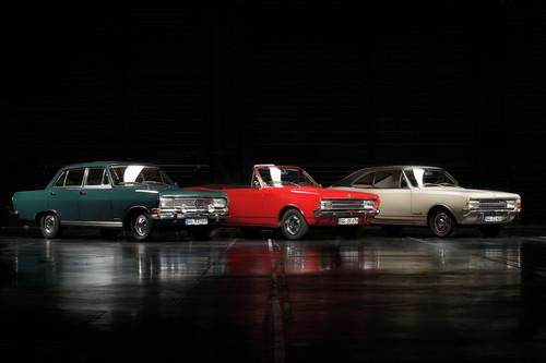 Opel Rekord B, Opel Rekord C Cabriolet und Opel Commodore A Coupé.