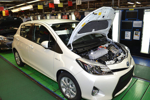 Im französischen Toyota-Werk Valenciennes ist der 2,5-millionste Yaris vom Band gelaufen.