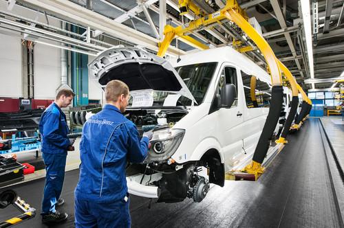 Mercedes-Benz Sprinter-Produktion in Düsseldorf.