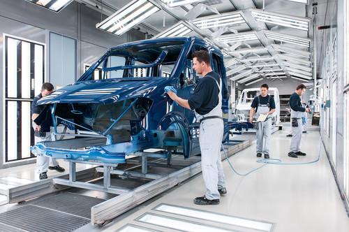 Mercedes-Benz Sprinter-Produktion in Ludwigsfelde.