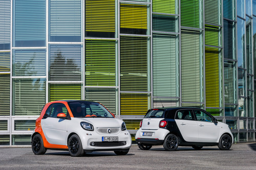 Smart Fortwo und Smart Forfour.