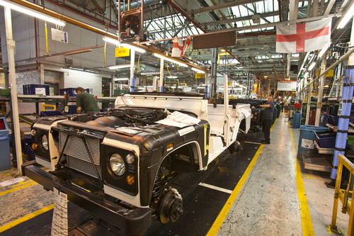 Defender-Produktion im Land-Rover-Werk Solihull.