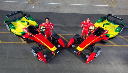 Formel-E-Piloten Lucas di Grassi und Daniel Abt.