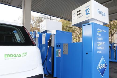 Erdgas-Tankstelle.