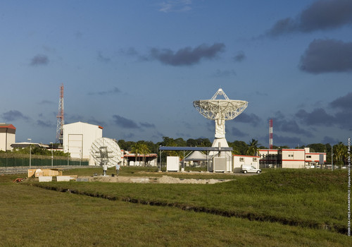 Die Station in Kourou.