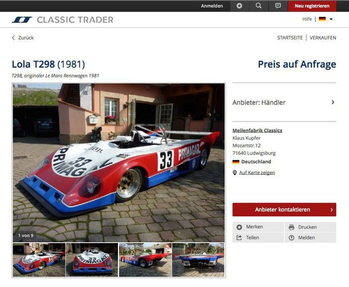 Angebote bei Classic Trader.