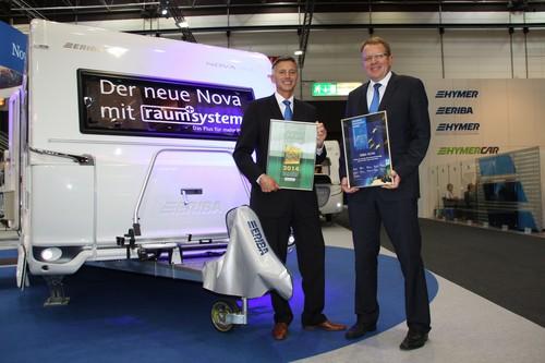 Jörg Reithmeier, Geschäftsführer der Hymer AG und Rudi Fimpel, Geschäftsbereichsleiter Caravans.