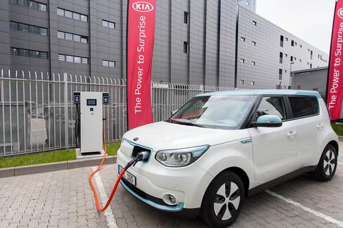 100 kW-Ladestation von Kia in Frankfurt.