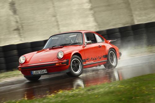 Reifentest für Porsche-Klassiker: 911 Carrera G-Modell (1975).
