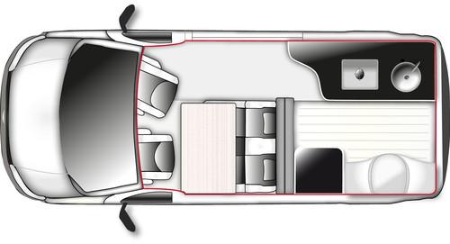flachmann westfalia club joker mit aufstelldach auto. Black Bedroom Furniture Sets. Home Design Ideas