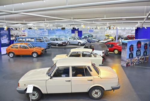 Vorboten der Einheit: Wartburg und Trabant im Auto-Museum Volkswagen.
