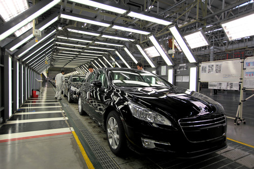 Peugeot-Produktion in China.