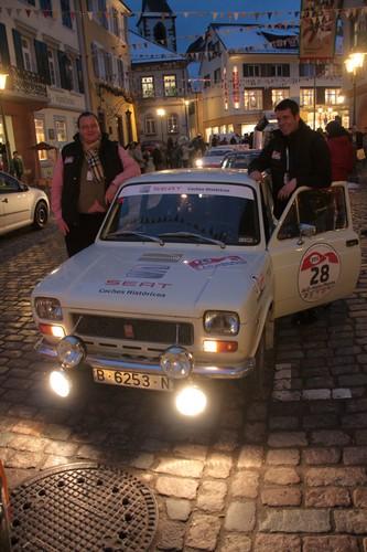 AvD-Histo-Monte 2015: Unsere Autoren Tim Westermann (r.) und Alexander Voigt sind mit einem Seat 127 Rallye von 1973 dabei.
