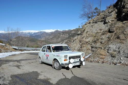 AvD-Histo-Monte 2015: Seat 127 Rallye (1973) am Col de Turini.