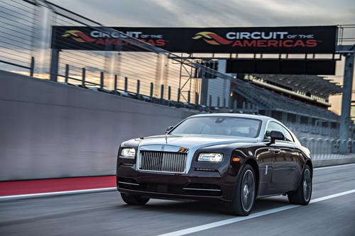 Rolls-Royce Wraith auf der Rennstrecke.
