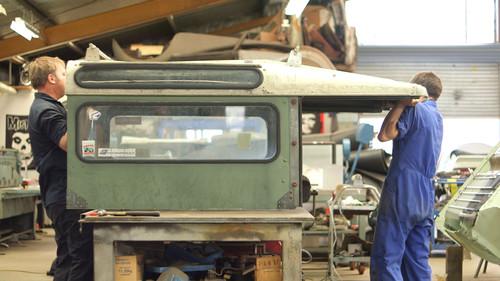Die Restauration des Land Rover Serie I (1957) in Neuseeland.