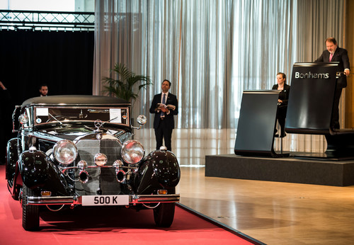 Mercedes-Benz 500 K bei Bonhams Mercedes-Benz Auktion.