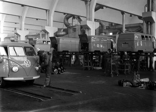 Volkswagen Transporter-Fertigung 1950.