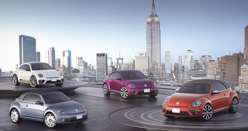 Vier Volkswagen-Studien in New York.