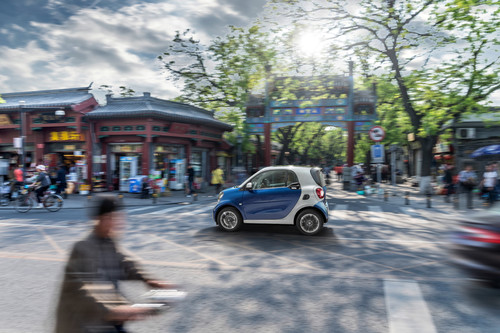 Der Smart Fortwo 2014 in Peking,