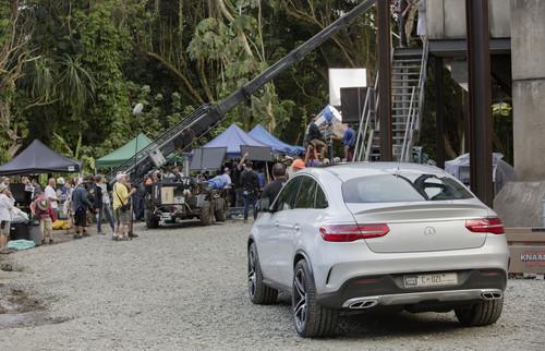 "Mercedes-Benz GLE Coupé am Set von ""Jurassic World""."