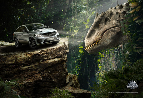 "Key-Visual-Motiv von Mercedes-Benz zu ""Jurassic World""."