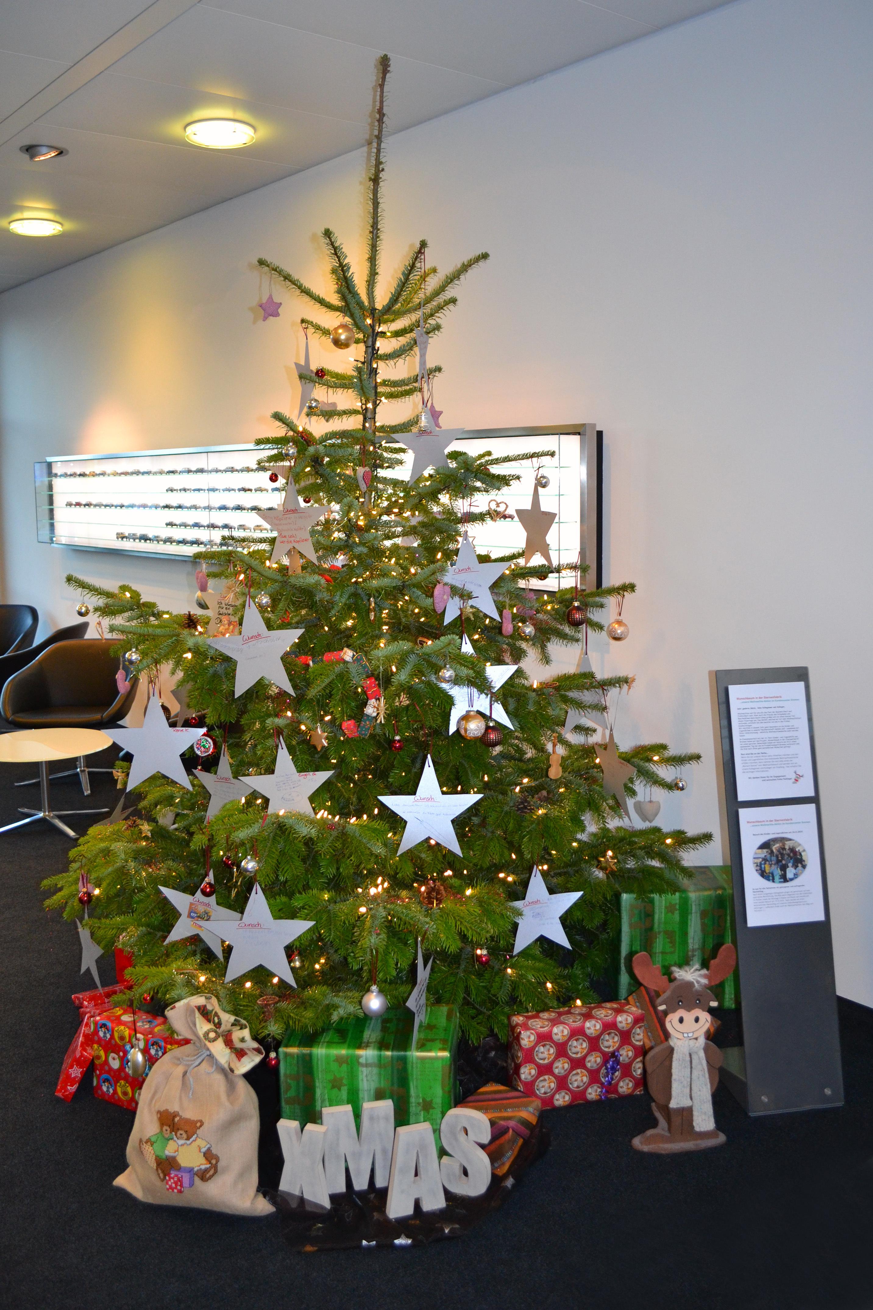 Mercedes Bremen Kundencenter mercedes bremen veranstaltet wunschbaum in der sternenfabrik