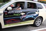 Mitsubishi Plug-in Hybrid Outlander im Taxi-Einsatz: In der Stadt meist elektrisch