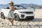 Mrs. Moneypenny trifft auf Range Rover Evoque Cabrio