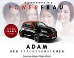 Opel verlost Adam am Weltfrauentag