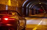 Jaguar jagt den Type-F SVR durch den Tunnel