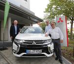 """Mitsubishi unterstützt """"eKommunal"""" mit drei Plug-in Hybrid Outlander"""