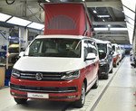 Fertigung des VW California.