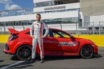 Jenson Button mit Honda Civic Type R auf dem Hungaroring.