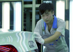 Montage des Audi A4 in China.