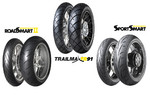 Dunlop Road Smart II, Sport Smart und Trailmaster TR91.
