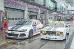 Volkswagen mit Scirocco-Gespann am Nürburgring