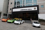 Lamborghinis neuer Showroom in Seoul.